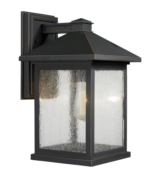 Z-Lite Portland Collection 1 Light Outdoor Wall Light in Oil Rubbed Bronze Finish, 531B-ORB