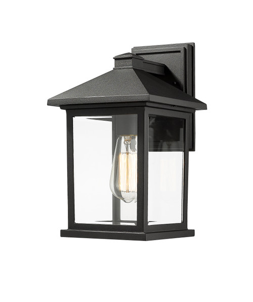 Z-Lite Portland Collection 1 Light Outdoor Wall Light in Black Finish, 531M-BK