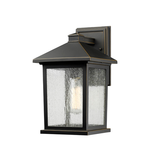 Z-Lite Portland Collection 1 Light Outdoor Wall Light in Oil Rubbed Bronze Finish, 531M-ORB