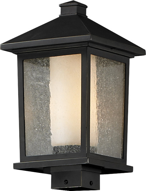 Z-Lite Mesa Collection Outdoor Post Light in Oil Rubbed Bronze Finish, 538PHB-ORB