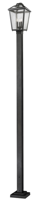Z-Lite Bayland Collection 3 Light Outdoor Post Light in Oil Rubbed Bronze Finish, 539PHBS-536P-ORB