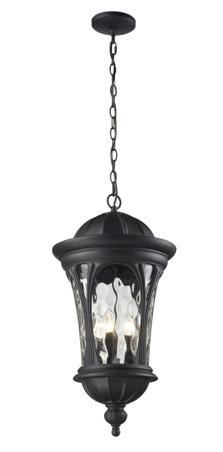 Z-Lite Doma Collection Outdoor Chain Light in Black Finish, 543CHB-BK