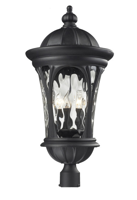Z-Lite Doma Collection Outdoor Post Light in Black Finish, 543PHB-BK