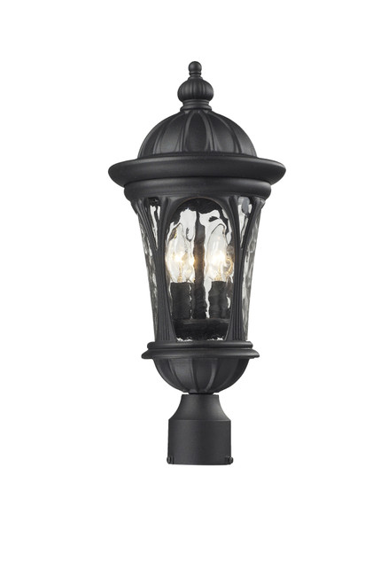 Z-Lite Doma Collection Outdoor Post Light in Black Finish, 543PHM-BK