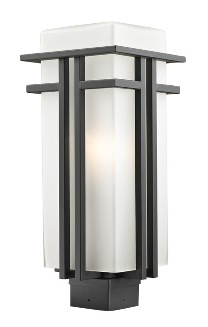 Z-Lite Abbey Collection Outdoor Post Light in Outdoor Rubbed Bronze Finish, 550PHB-ORBZ