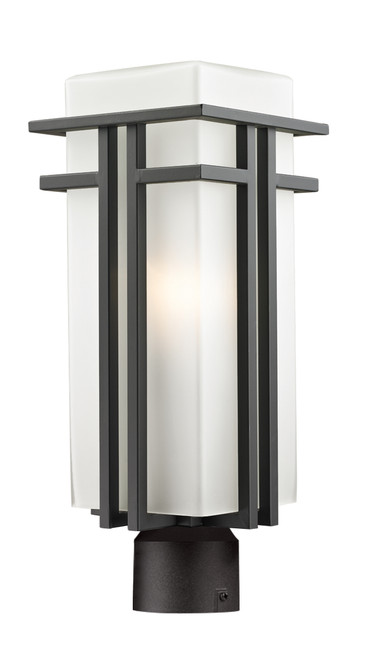 Z-Lite Abbey Collection Outdoor Post Light in Outdoor Rubbed Bronze Finish, 550PHB-ORBZ-R