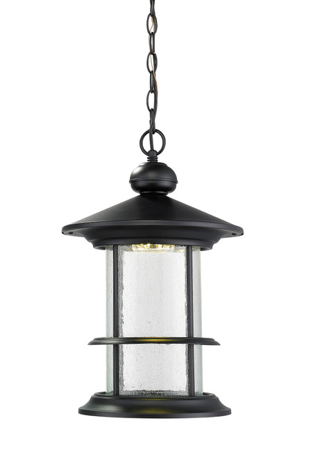 Z-Lite Genesis Collection Outdoor LED Chain Hung Light in Black Finish, 552CHB-BK-LED