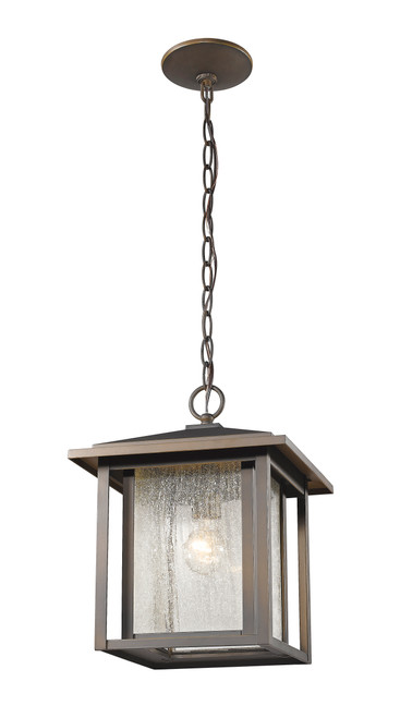 Z-Lite Aspen Collection 1 Light Outdoor in Oil Rubbed Bronze Finish, 554CHB-ORB