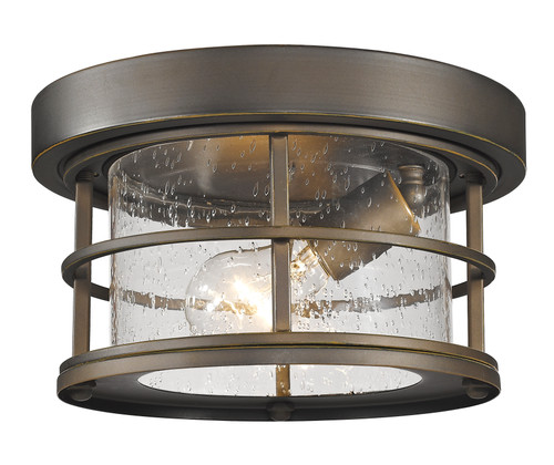 Z-Lite Exterior Additions Collection 1 Light Outdoor in Oil Rubbed Bronze Finish, 555F-ORB