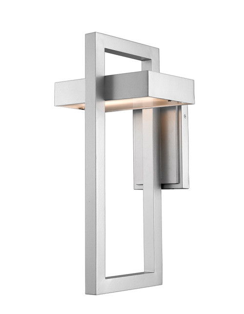 Z-Lite Luttrel Collection 1 Light Outdoor Wall Sconce in Silver Finish, 566B-SL-LED