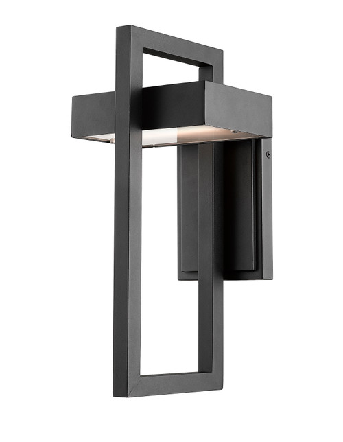 Z-Lite Luttrel Collection 1 Light Outdoor Wall Sconce in Black Finish, 566M-BK-LED
