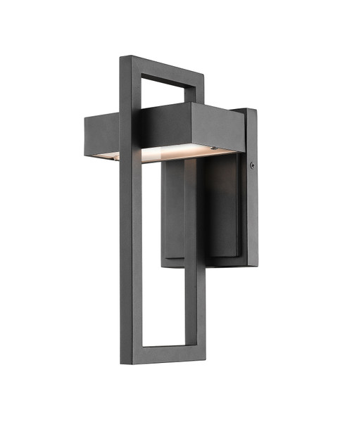 Z-Lite Luttrel Collection 1 Light Outdoor Wall Sconce in Black Finish, 566S-BK-LED