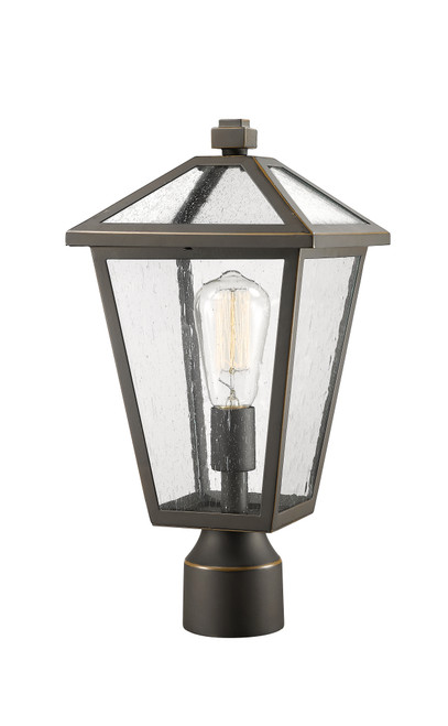Z-Lite Talbot Collection 1 Light Outdoor Post Mount Fixture in Oil Rubbed Bronze Finish, 579PHMR-ORB
