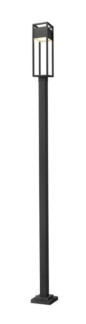 Z-Lite Barwick Collection 1 Light Outdoor Post Mounted Fixture in Black Finish, 585PHBS-536P-BK-LED