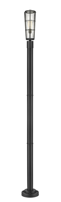 Z-Lite Helix Collection 1 Light Outdoor Post Mounted Fixture in Black Finish, 591PHB-567P-BK