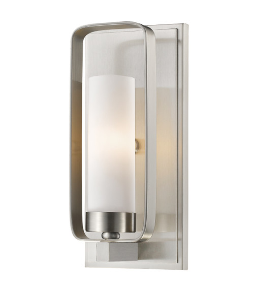Z-Lite Aideen Collection 1 Light Wall Sconce in Brushed Nickel Finish, 6000-1S-BN