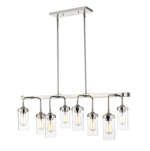 Z-Lite Calliope Collection 8 Light Pendant in Polished Nickel Finish, 617-8L-PN