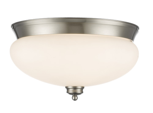 Z-Lite Amon Collection 3 Light Flush Mount in Brushed Nickel Finish, 721F3-BN