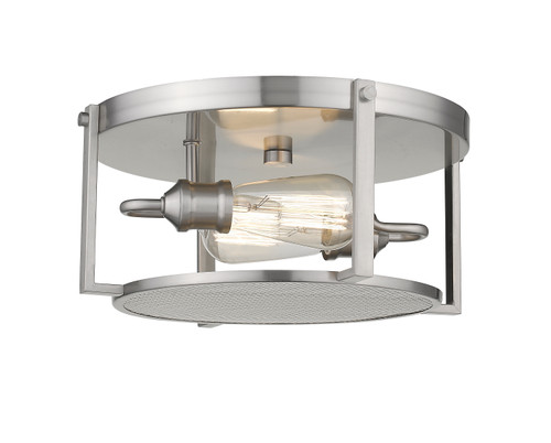 Z-Lite Halcyon Collection 2 Light Flush Mount in Brushed Nickel Finish, 723F13-BN