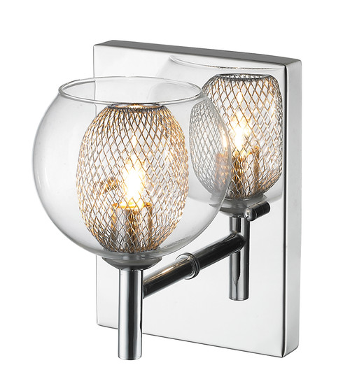 Z-Lite Auge Collection 1 Light Wall Sconce in Chrome Finish, 905-1SC