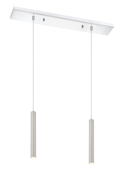 Z-Lite Forest Collection 2 Light Island/Billiard in Chrome Finish, 917MP12-BN-LED-2LCH