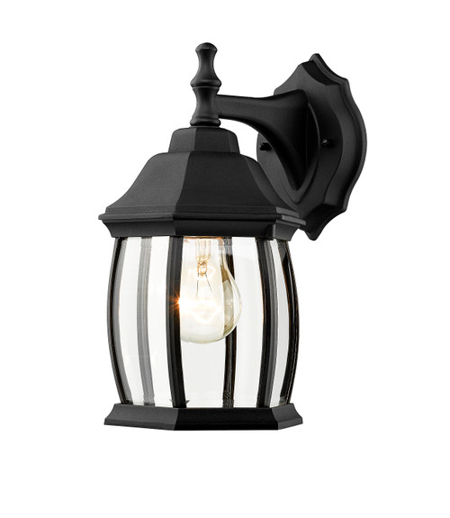 Z-Lite Waterdown Collection 1 Light Outdoor Wall Light in Black Finish, T20-BK