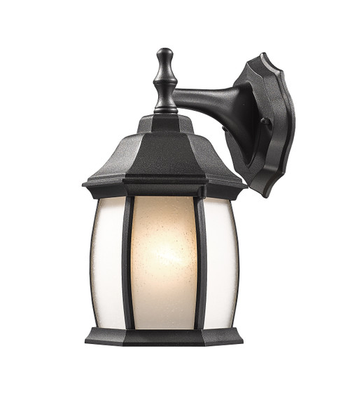 Z-Lite Waterdown Collection 1 Light Outdoor Wall Light in Black Finish, T20-BK-F