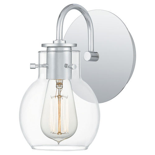 Quoizel 1 Light Andrews Wall Sconce in Polished Chrome Finish, ANW8601C