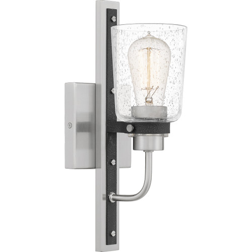 Quoizel 1 Light Axel Wall Sconce in Brushed Nickel Finish, AXE8605BN