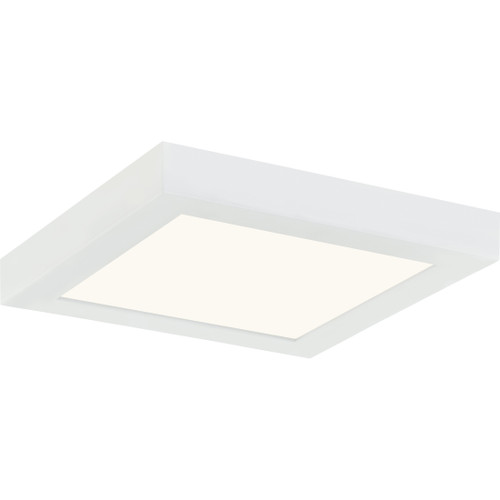 Quoizel Outskirts Flush Mount in White Lustre Finish, OST1608W