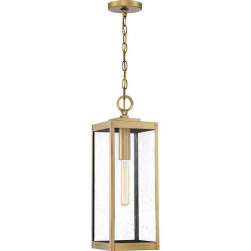 Quoizel 1 Light Westover Outdoor Lantern in Antique Brass Finish, WVR1907A