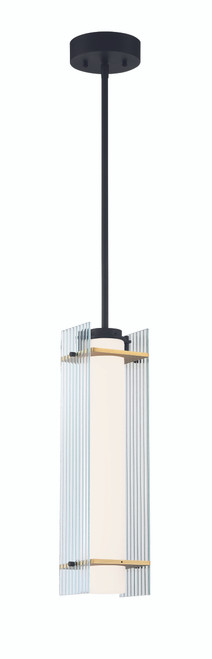 George Kovacs Midnight Gold LED Light Pendant in Sand Coal And Honey Gold, P1519-707-L