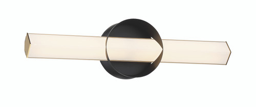George Kovacs Inner Circle LED Wall Sconce in Coal And Honey Gold, P1542-688-L