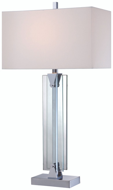 George Kovacs Table Lamp 1 Light Table Lamp in Chrome, P1608-077