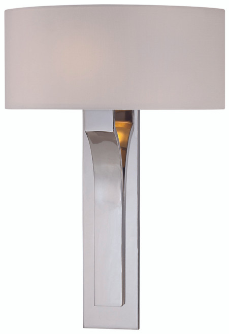 George Kovacs Wall Sconces 1 Light Wall Sconce in Polished Nickel, P1705-613