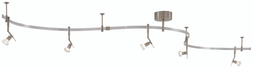 George Kovacs Gk Lightrail 5 Light Low Voltage Monorail Kit in Brushed Nickel, P4035-084