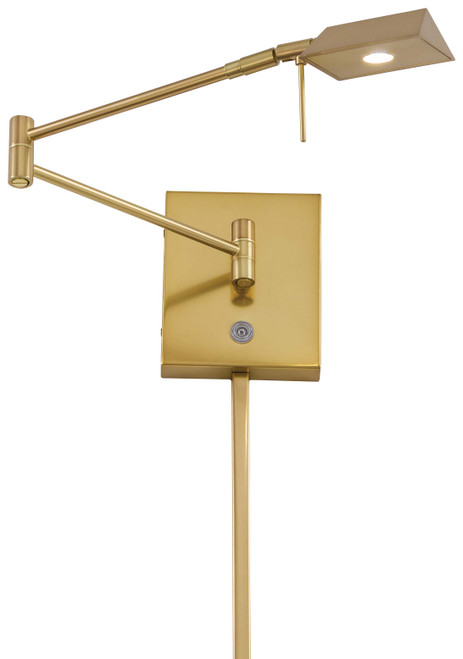 George Kovacs George's Reading Room 1 Light LED Swing Arm Wall Lamp in Honey Gold, P4318-248