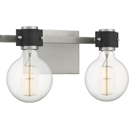 Quoizel 2 Light Curie Bath Light in Antique Nickel Finish, CUE8615AN