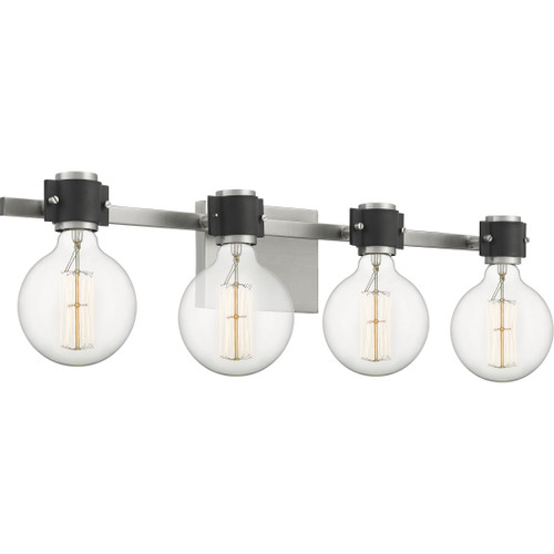 Quoizel 4 Light Curie Bath Light in Antique Nickel Finish, CUE8631AN