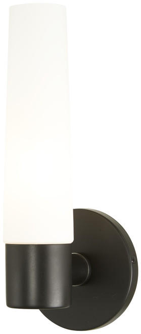 George Kovacs Saber 1 Light Wall Sconce in Coal, P5041-66A
