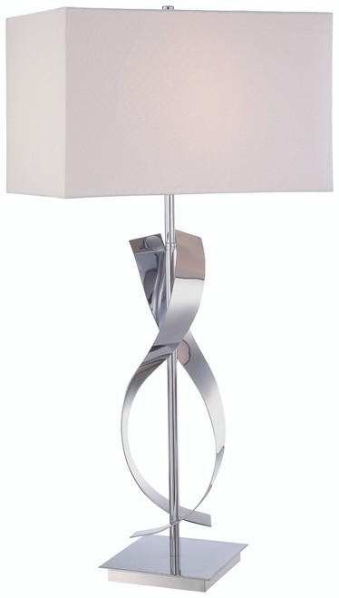 George Kovacs Table Lamp 1 Light Table Lamp in Chrome, P723-077