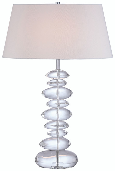 George Kovacs Table Lamp 1 Light Table Lamp in Chrome, P725-077
