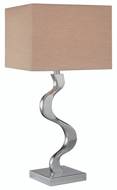 George Kovacs Table Lamp 1 Light Table Lamp in Chrome, P729-077