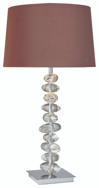 George Kovacs Table Lamp 1 Light Table Lamp in Chrome, P733-077