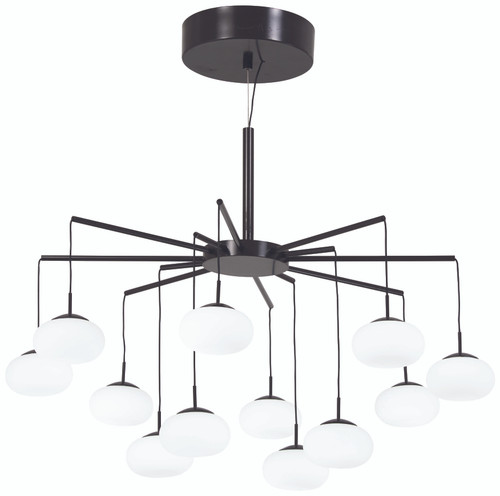 George Kovacs George's Web LED Chandelier (Convertible To Semi Flush) in Bronze with Gold Dust, P8238-671-L