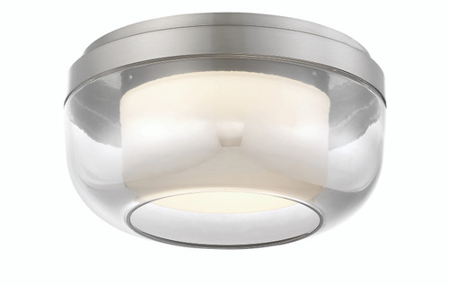 George Kovacs First Encounter Family LED Flush Mount in Brushed Nickel, P952-1-084-L