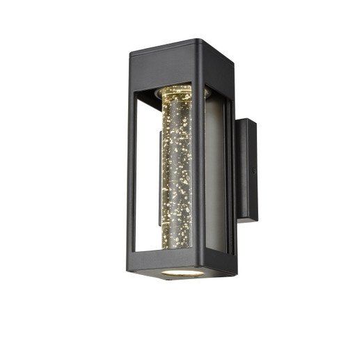 DVI Lighting Geyser Light Small Sconce in Black with Clear Seedy Glass