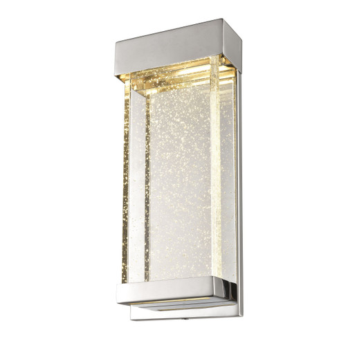 DVI Lighting Nieuport AC LED Medium Sconce in Chrome with Clear Seedy Glass