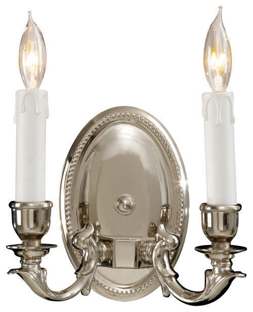 Metropolitan 2 Light Wall Sconce in Polished Chrome, N9809-PC
