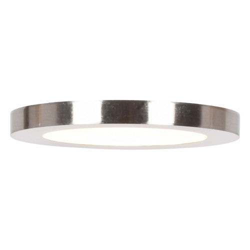 Access Lighting Disc LED Flush Mount in Brushed Steel with Acrylic Lens Glass, 20811LEDD-BS/ACR